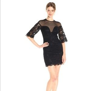 NWT! Nicole Miller 3/4 Slv Sweetheart Lace Dress